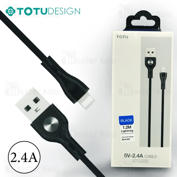 کابل لایتنینگ توتو TOTU BLA-042 Fine Point توان 2.4 آمپر و طول 1.2 متر