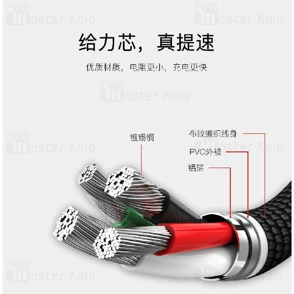 کابل میکرو یو اس بی یسیدو Yesido CA-13 do durable توان 2.4 آمپر