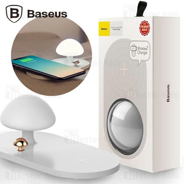 شارژر وایرلس و چراغ خواب بیسوس Baseus Mushroom Lamp Desktop WXMGD-02