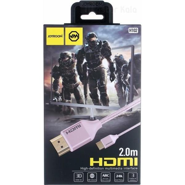 کابل HDMI جویروم Joyroom H102 HDMI V2.0 طول 2 متر