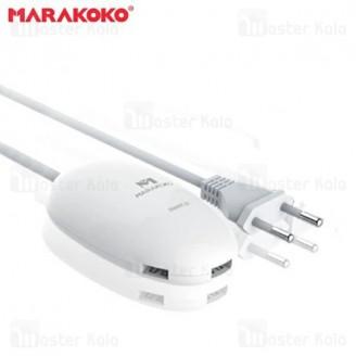 هاب شارژر رومیزی 3 پورت MARAKOKO M-AC101 توان 3.6 آمپر
