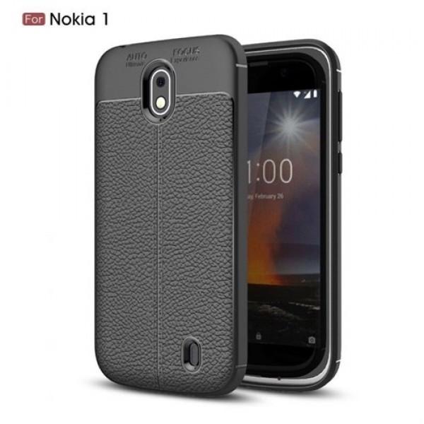 قاب محافظ ژله ای طرح چرم Nokia 1 مدل Auto Focus