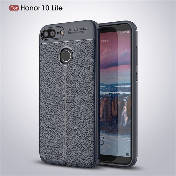 قاب محافظ ژله ای طرح چرم Huawei Honor 10 Lite مدل Auto Focus