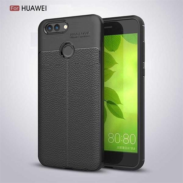 قاب محافظ ژله ای طرح چرم Huawei Nova 2 Plus مدل Auto Focus