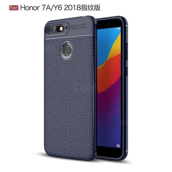 قاب محافظ ژله ای طرح چرم Huawei Y6 2018 / Y6 Prime 2018 / Honor 7A مدل Auto Focus