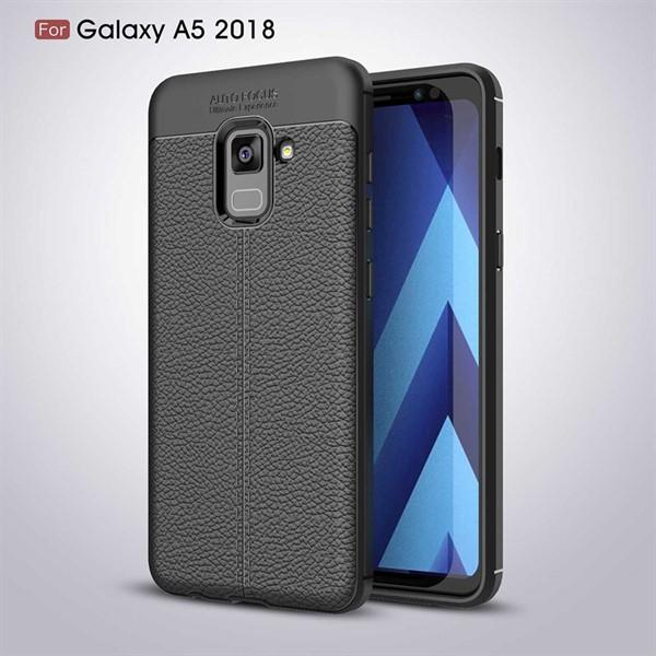 قاب محافظ ژله ای طرح چرم Samsung Galaxy A530/A8 2018 مدل Auto Focus