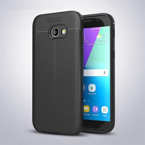 قاب محافظ ژله ای طرح چرم Samsung Galaxy A7 2017 / A720 مدل Auto Focus