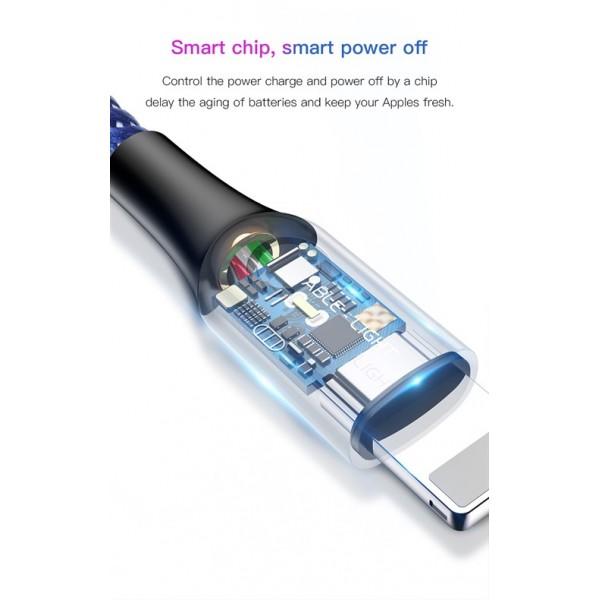 کابل لایتنینگ هوشمند قطع کن خودکار بیسوس Baseus C-Shaped Light Intelligent CALCD-01