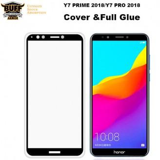 محافظ شیشه ای تمام صفحه تمام چسب مارک بوف Huawei Y7 Prime 2018/Honor 7C