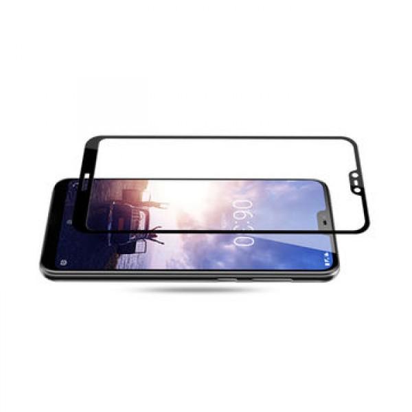 محافظ شیشه ای تمام صفحه و تمام چسب مارک بوف نوکیا Nokia X6