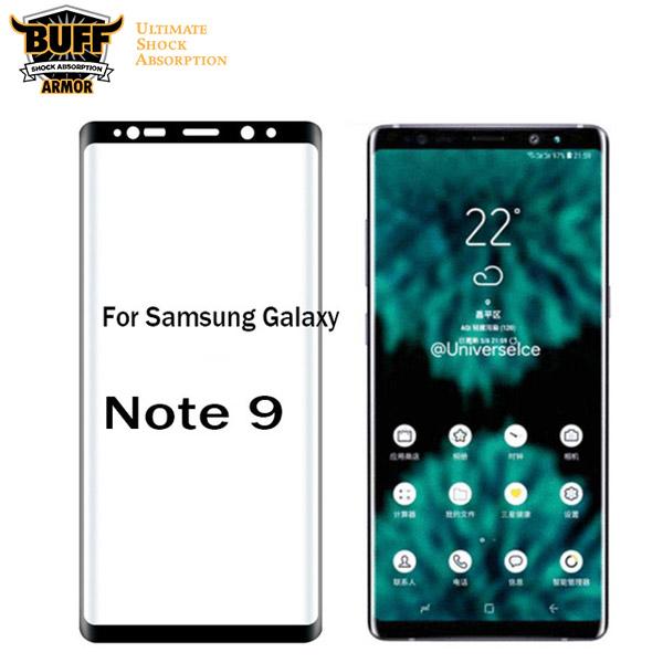 محافظ شیشه ای تمام صفحه و خمیده مارک بوف تمام چسب Samsung Galaxy Note 9