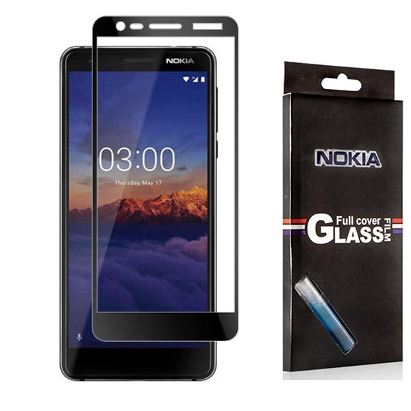محافظ صفحه شیشه ای تمام صفحه تمام چسب مارک TT نوکیا Nokia 3.1 2018