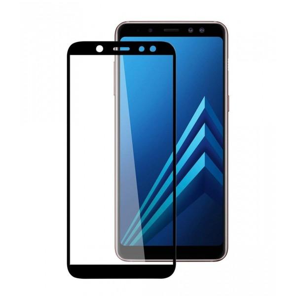 محافظ صفحه شیشه ای تمام صفحه تمام چسب Samsung Galaxy A6 Plus 2018