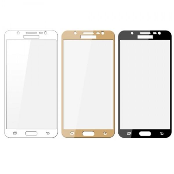 محافظ صفحه نمایش شیشه ای تمام صفحه تمام چسب Samsung Galaxy J7 DUO