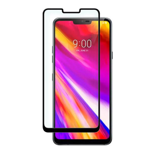 محافظ صفحه نمایش شیشه ای تمام صفحه دور چسب برای LG G7 ThinQ