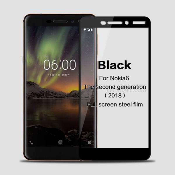 محافظ صفحه نمایش شیشه ای تمام صفحه دور چسب برای Nokia (6.1) 6 2018