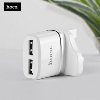 شارژر دیواری 2 پورت هوکو Hoco C12B Dual USB Charger