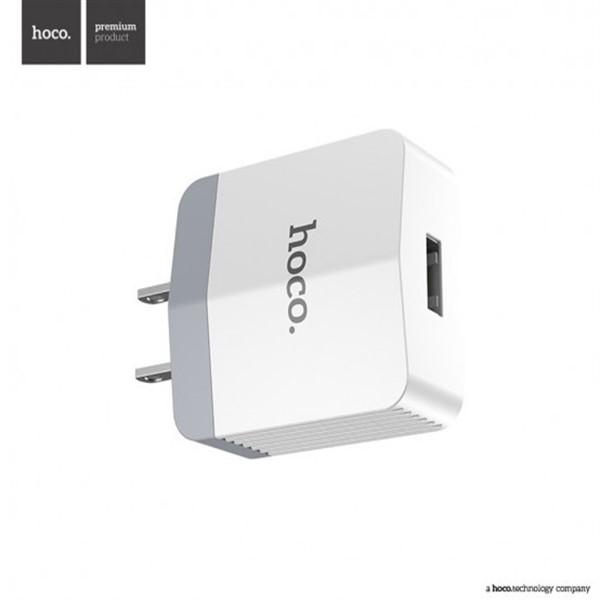 شارژر دیواری تک پورت 2.4 میلی آمپر هوکو Hoco C13A Smart USB Charger