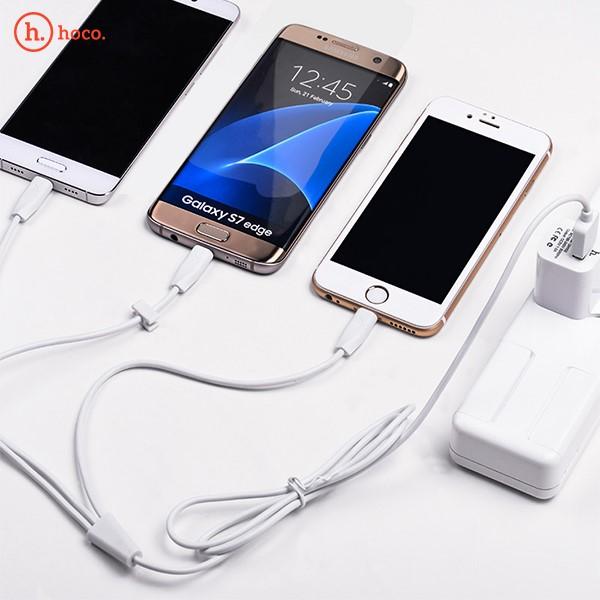 کابل شارژ و انتقال اطلاعات سه سر هوکو Hoco X1 Rapid Charging Cable