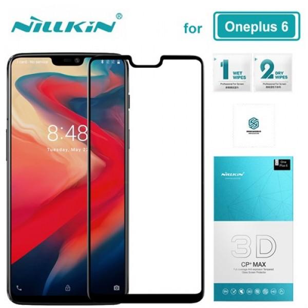 محافظ صفحه نمایش شیشه ای تمام صفحه نیلکین وان پلاس Nillkin 3D CP+Max OnePlus 6 / A6000