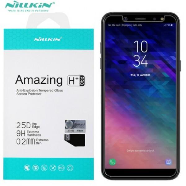 محافظ صفحه نمایش شیشه ای نیلکین H+ Pro Glass Samsung Galaxy A6 2018