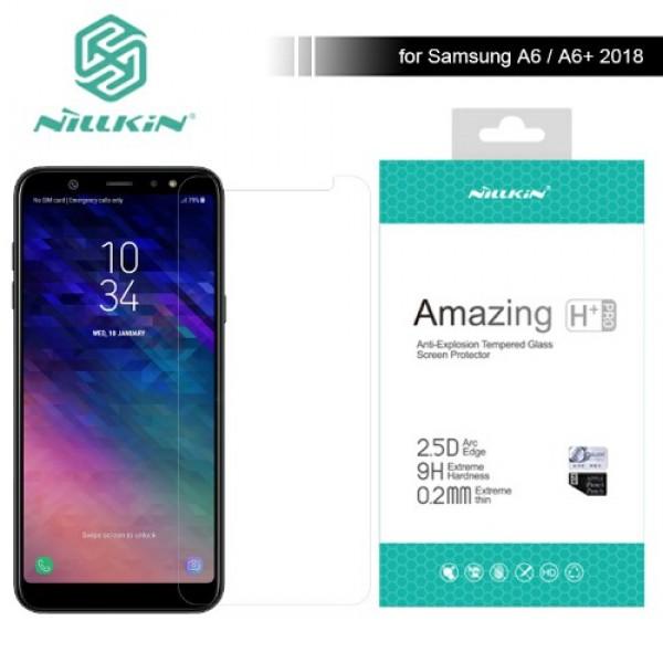محافظ صفحه نمایش شیشه ای نیلکین H+ Pro Glass Samsung A6 Plus 2018 / J8 2018 / A9 Star Lite