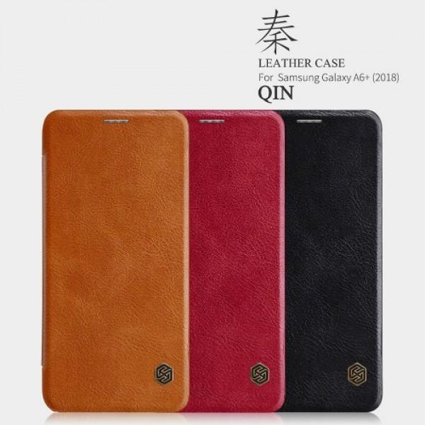 کیف چرمی نیلکین سامسونگ Samsung Galaxy A6 Plus 2018 Nillkin Qin Leather