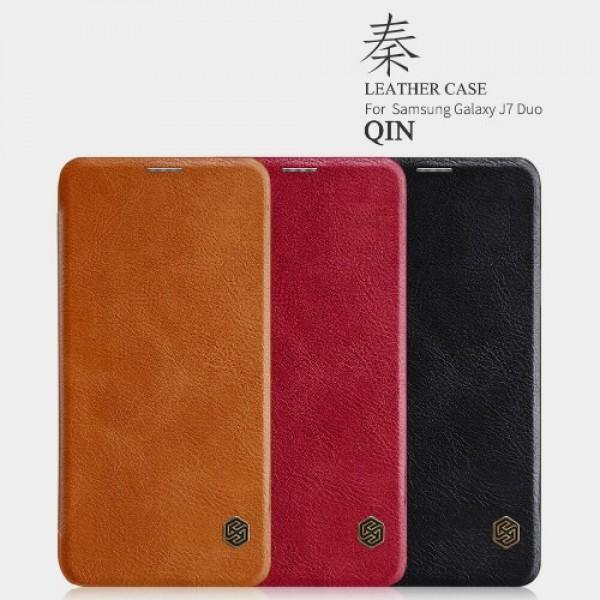کیف چرمی نیلکین سامسونگ Samsung Galaxy J7 DUO Nillkin Qin