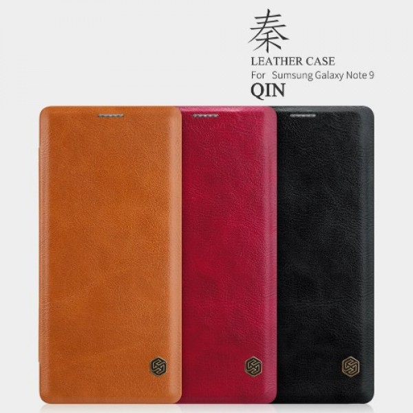 کیف چرمی نیلکین سامسونگ Samsung Galaxy Note 9 Nillkin Qin Leather Case