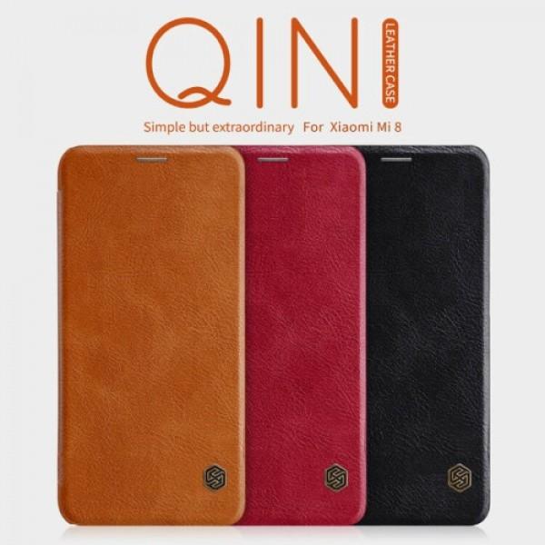 کیف چرمی نیلکین شیائومی Xiaomi Mi8 / Mi 8 Nillkin Qin Leather Case