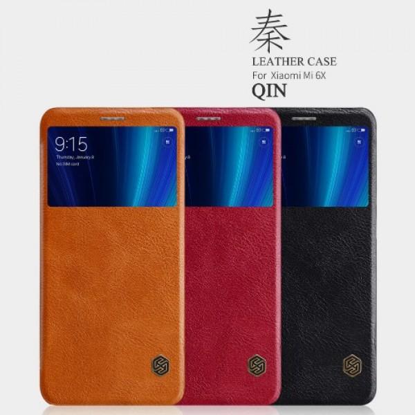 کیف چرمی هوشمند نیلکین شیائومی Xiaomi Mi A2 / Mi 6x Nillkin Qin Leather Case