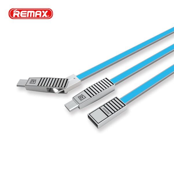 کابل شارژ و انتقال اطلاعات سه کاره ریمکس Remax RC-072th Linyo Series