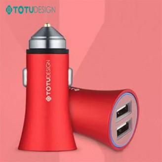شارژر فندکی 2 پورت توتو TOTU CC06 2 USB quick charge car Charger