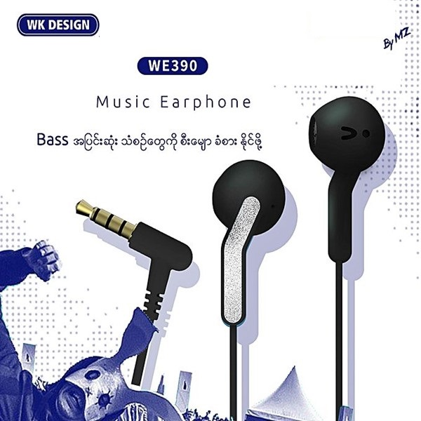 هندزفری طرح Earpod Apple دبلیو کی WK WE390 Stereo Sound handsfree