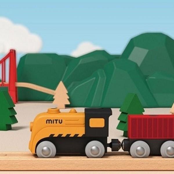 ترن - قطار اسباب بازی شیائومی Xiaomi Mitu Track Building block electric Train