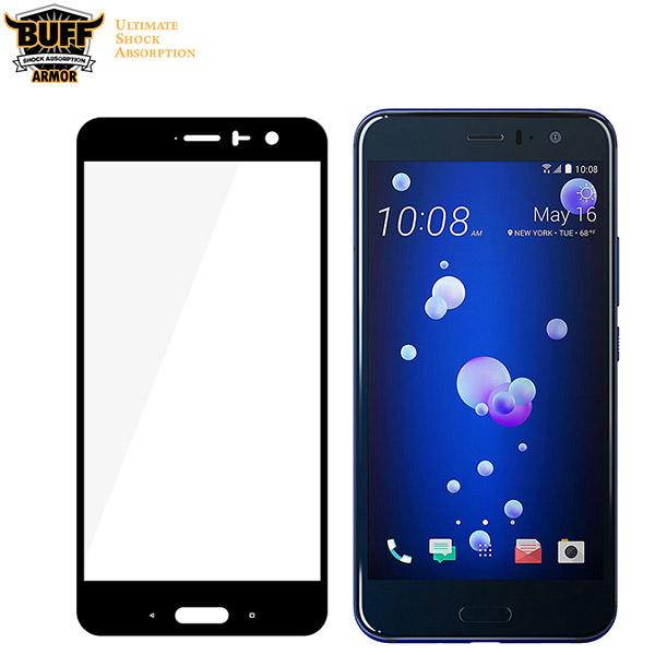 محافظ صفحه نمایش شیشه ای تمام صفحه دور چسب مارک Buff برای HTC U11