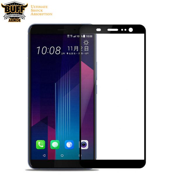محافظ صفحه شیشه ای تمام صفحه دور چسب مارک Buff برای HTC U11 Plus