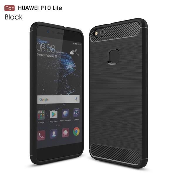 قاب محافظ ژله ای هواوی Huawei P10 Lite Fiber Carbon Rugged Armor