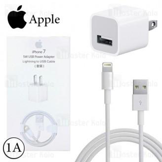 آداپتور شارژر اصلی آیفون 7 Apple iPhone 7 MD814CH/A Charger همراه کابل