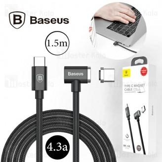 کابل تایپ سی به تایپ سی Baseus Magnet Type-C cable 4.3A CATBL-01 مخصوص شارژ مک بوک