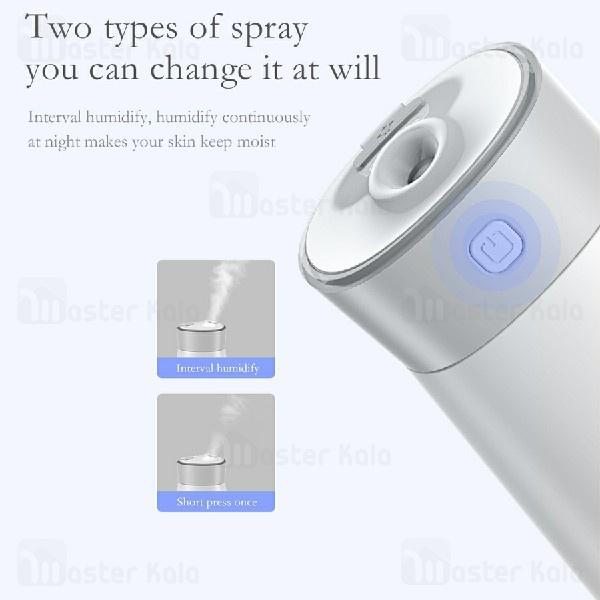 دستگاه بخور سرد Baseus Slim Waist Humidifier DHMY-B02 مجهز به پنکه و چراغ LED