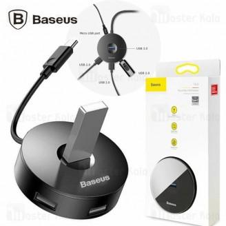 هاب 5 پورت Type C بیسوس Baseus Round Box Hub Adapter USB 3.0 cahub-GB01
