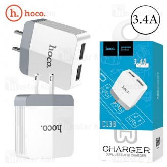 شارژر دیواری دو پورت 3.4 آمپر هوکو Hoco C13B Dual USB Charger
