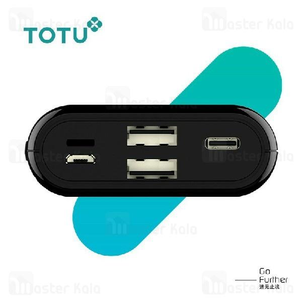 پاوربانک 10000 توتو TOTU YAMU PBQ01 Power Bank سه پورت با توان 3 آمپر