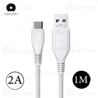 کابل شارژ تایپ سی WUW X95 Charge Cable طول 1 متر با توان 2 آمپر
