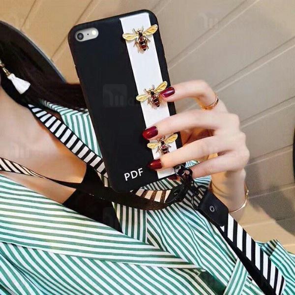 قاب فانتزی گوچی زنبور Apple iPhone 6 Plus - 6s Plus Gucci Bee Case دارای بند آویز