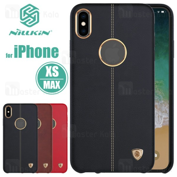 قاب محافظ چرمی نیلکین آیفون Apple iPhone XS Max Nillkin Englon Leather