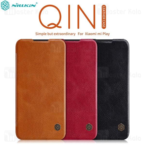 کیف چرمی نیلکین شیائومی Xiaomi Mi Play Nillkin Qin Leather Case