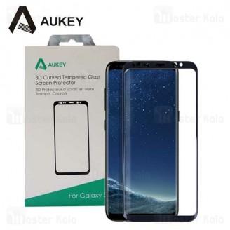 محافظ صفحه شیشه ای تمام صفحه دور چسب آکی Samsung Galaxy S8 Aukey SP-G27