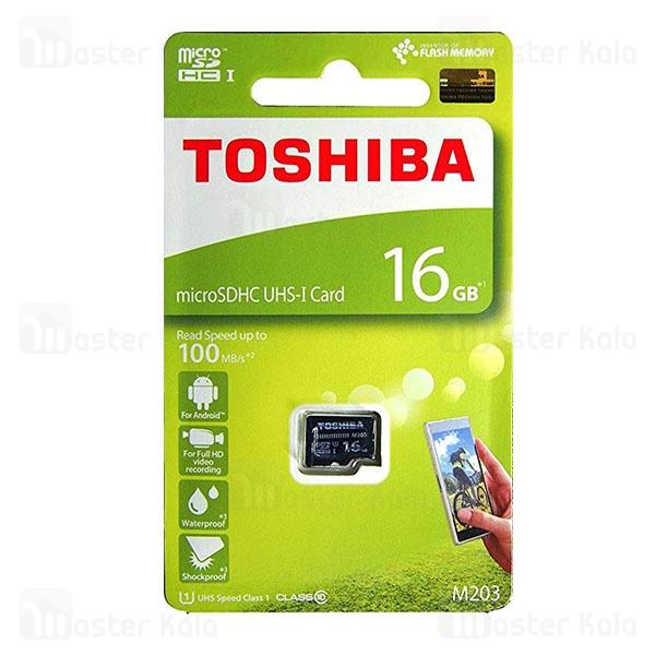 کارت حافظه میکرو اس دی 16 گیگابایت توشیبا Toshiba M203 100MBs U1 UHS-I